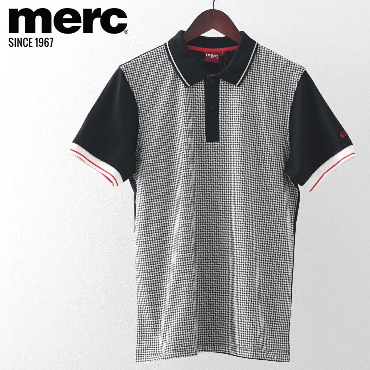 メルクロンドン Merc London ポロシャツ ポロ 18SS 新作 ドッグトゥース W1 プレミアム メンズ モッズファッション プレゼント ギフト