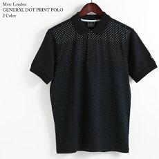 メルクロンドンMercLondonポロシャツポロドット水玉18SS新作2色ブラックグレーメンズW1プレミアムモッズファッションプレゼントギフト