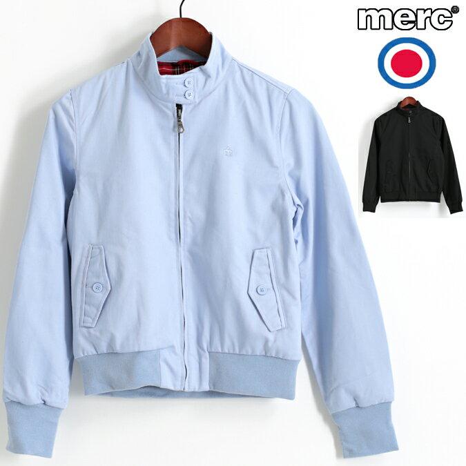 セール メルクロンドン Merc London レディース ハリントンジャケット スウィングトップ 2色 ポーセリンブルー ブラック モッズ プレゼント ギフト