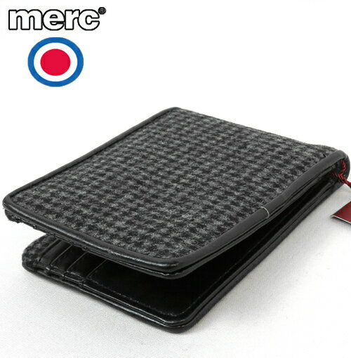 メルクロンドン Merc London ドッグトゥース 二つ折り 財布 メンズ 【送料無料】 千鳥格子 モッズ メルク プレゼント ギフト