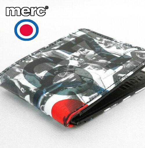 メルクロンドン Merc London フォト プリント ターゲットマーク 二つ折り 財布 メンズ ギフト