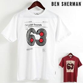 ベンシャーマン Ben Sherman Tシャツ ビニール63 2色 メンズ メンズ プレゼント ギフト