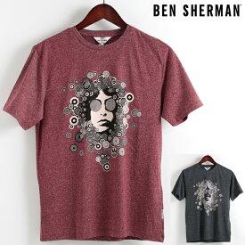 ベンシャーマン Ben Sherman Tシャツ グリンドル サークルマン 2色 メンズ メンズ プレゼント ギフト