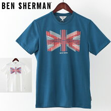 ベンシャーマンメンズTシャツBenShermanユニオンライン19SS新作2色レイクブルーホワイトプレゼントギフト