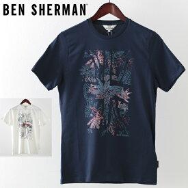 ベンシャーマン メンズ Tシャツ Ben Sherman トロピカル ユニオン 2019 新作 2色 ダークネイビー ホワイト プレゼント ギフト