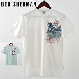 ベンシャーマン メンズ Tシャツ トロピカル ポケット Ben Sherman 2019 新作 2色 ホワイト シー プレゼント ギフト