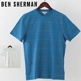ベンシャーマン メンズ Tシャツ Ben Sherman パーム ストライプ 2019 新作 2色 ホワイト マリン プレゼント ギフト