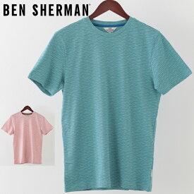 ベンシャーマン メンズ Tシャツ Ben Sherman ジオ ウェーブ 2019 新作 2色 ターコイズ ライトピンク プレゼント ギフト