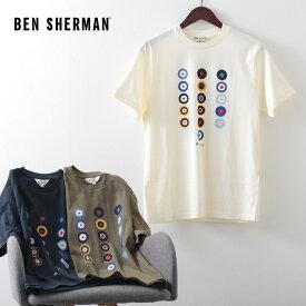 ベンシャーマン メンズ Tシャツ ターゲットマーク 20SS 新作 Ben Sherman 3色 アイボリー カーキ ミッドナイト レギュラーフィット ギフト