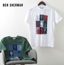 ベンシャーマンメンズTシャツマイク20SS新作BenSherman2色トレッキンググリーンホワイトレギュラーフィットプレゼントギフト