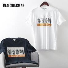 ベンシャーマンメンズTシャツスクーターVESPAベスパ20SS新作BenSherman2色ホワイトダークネイビーレギュラーフィットプレゼントギフト