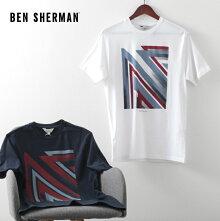 ベンシャーマンメンズTシャツユニオンジャックスティップルフラッグ20SS新作BenSherman2色ダークネイビーホワイトレギュラーフィットプレゼントギフト