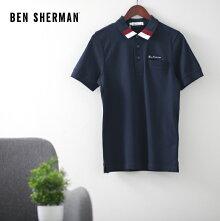 ベンシャーマンメンズポロシャツポロトリムクリーン20SS新作BenShermanダークネイビースリムフィットプレゼントギフト