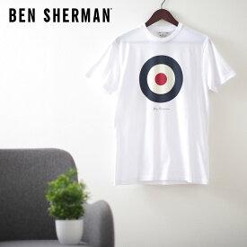 ベンシャーマン メンズ Tシャツ シグネチャー モード ターゲット 20SS 新作 Ben Sherman ホワイト レギュラーフィット ギフト