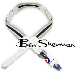 ベンシャーマン Ben Sherman 本革レザー ベルト メンズ モッズファッション モッズ系 モッズ ファッション House Ring Stripe ハウス リング ストライプ バックル ベージュ ホワイト ワインレッド UK モッズ t581 *xs ギフト トラッド