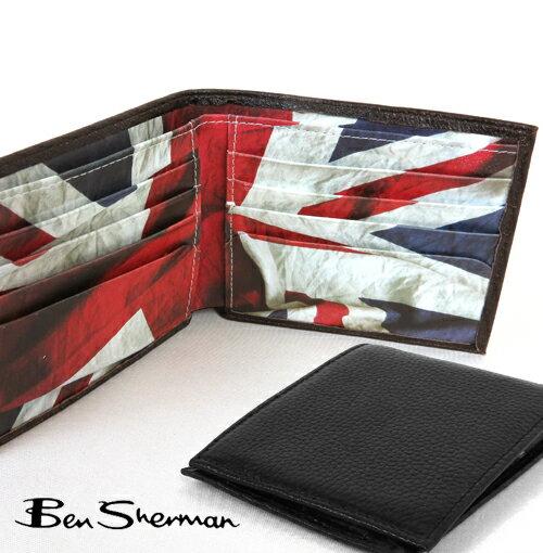 ベンシャーマン ユニオンジャック 本革レザー 二つ折り 財布 メンズ プレゼント ギフト
