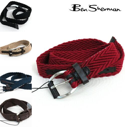 ベンシャーマン Ben Sherman 5色 ヘリンボーン ウェビング ベルト メンズ 【送料無料】 プレゼント ギフト クリスマス
