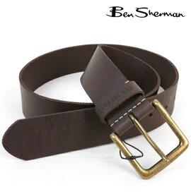 ベンシャーマン Ben Sherman デニム 本革レザー ベルト メンズ プレゼント ギフト