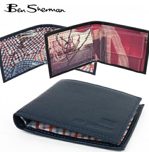 ベンシャーマン Ben Sherman 二つ折り 財布 本革レザー コイン ウォレット 【送料無料】 メンズ プレゼント ギフト