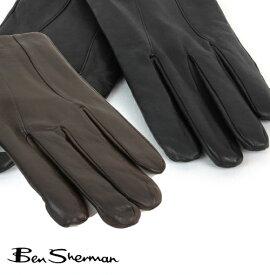 セール SALE ベンシャーマン Ben Sherman 本革レザー グローブ 手袋 メンズ ギフト トラッド