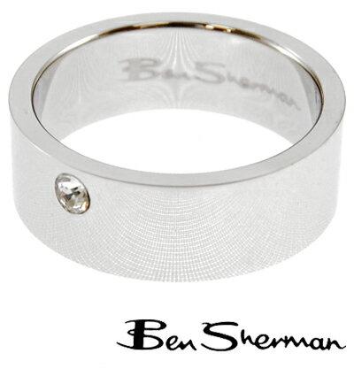 ベンシャーマン Ben Sherman ラインストーン リング 指輪 メンズ 【送料無料】 モッズ ファッション Ring ロゴ BOX BenSherman UKモッズ r552 *22 *23 *26 プレゼント ギフト