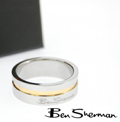 ベンシャーマン Ben Sherman ツートン リング 指輪 メンズ 【送料無料】 モッズ ファッション Two Tone Ring ロゴ プレゼント ギフト BOX BenSherman UKモッズ r562r *18.5 *26 プレゼント ギフト