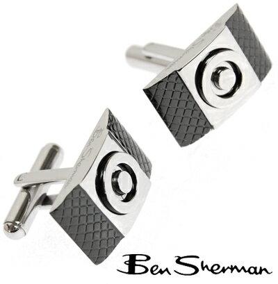 ベンシャーマン Ben Sherman ターゲットマーク ツートン カフス 【送料無料】 モッズ ファッション Targetmark ステンレス ロゴ アクセサリー BOX BenSherman UKモッズ r770 プレゼント ギフト