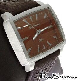 ベンシャーマン Ben Sherman レクタングル ディープレッド ブラウンフェイス 腕時計【送料無料】 メンズ 横長 ベンシャーマンモッズ ファッション Rectangle Deep Red Brown Face 本革 レザー ベルト Leather 腕 時計 アナログ ウォッチ UK モッズ r934 ギフト