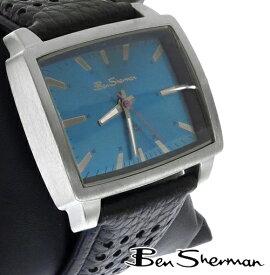 ベンシャーマン Ben Sherman レクタングル 横長 オーシャンブルー フェイス 腕時計 メンズ 【送料無料】 モッズ ファッション Rectangle Ocean Blue Face パープル 本革 レザー ベルト Leather 腕 時計 アナログ ウォッチ UK モッズ r936 プレゼント ギフト
