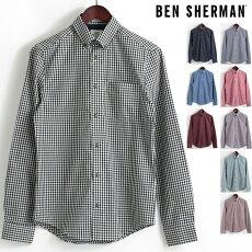 ベンシャーマンBenSherman長袖シャツギンガムチェックコア9色18SS新作レギュラーフィットMODRegularFitボタンダウンメンズプレゼントギフトモッズファッション
