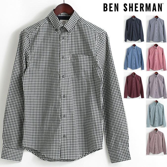 ベンシャーマン Ben Sherman 長袖シャツ ギンガムチェック コア 9色 18SS 新作 レギュラーフィット MOD Regular Fit ボタンダウン メンズ プレゼント ギフト モッズファッション