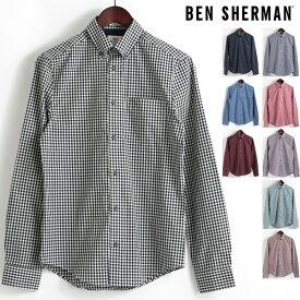 ベンシャーマン Ben Sherman 長袖シャツ ギンガムチェック コア 9色 レギュラーフィット MOD Regular Fit ボタンダウン メンズ プレゼント ギフト モッズファッション