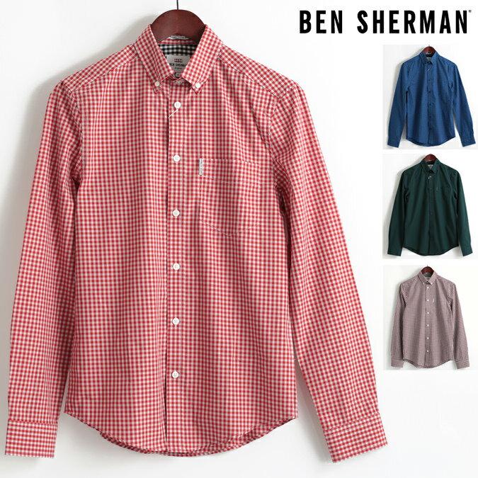 セール ベンシャーマン Ben Sherman 長袖シャツ ギンガムチェック コア 4色 ブルー レッド グリーン ブラック レギュラーフィット MOD Regular Fit ボタンダウン メンズ プレゼント ギフト モッズファッション 父の日