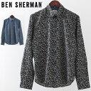 ベンシャーマン メンズ 長袖シャツ シーガル かもめ Ben Sherman 19SS 新作 2色 ダークブルー ブラック レギュラーフィット プレゼント…