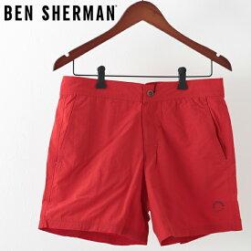 ベンシャーマン メンズ 海パン 水着 スイムショーツピースダイ Ben Sherman リボンレッド モッズ プレゼント ギフト