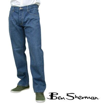Fセール ベンシャーマン Ben Sherman デニム ジーンズ ズボン メンズ 【送料無料】 モッズ ブルー スティール Blue Steel ストレート Icon Straight パンツ ボトムス UKモッズ dmw618bluesteel *34 プレゼント ギフト