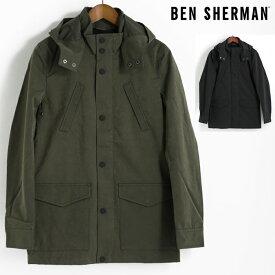 ベンシャーマン Ben Sherman モッズパーカ モッズコート ジャケット 2色 ダークグリーン ブラック テフロン加工 メンズ 上着 アウター プレゼント ギフト