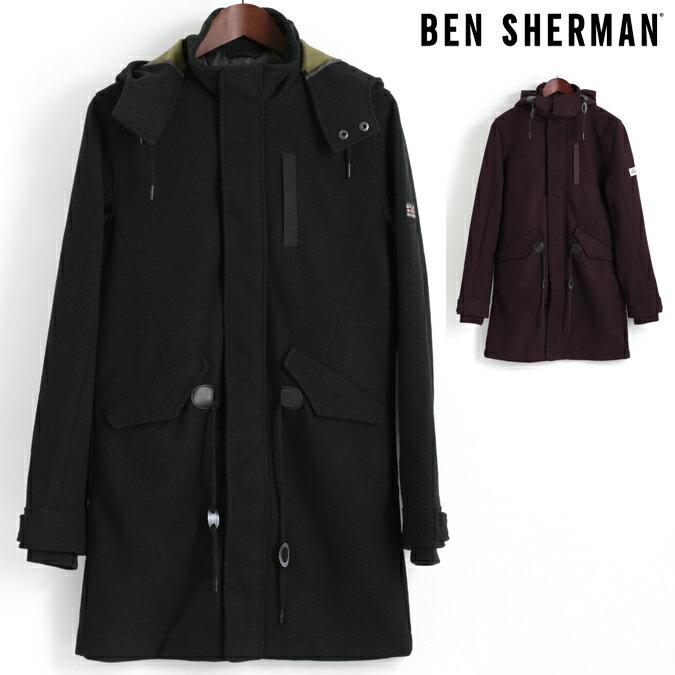 Fセール ベンシャーマン Ben Sherman モッズコート モッズパーカ ウール 2色 ピート ワイン メンズ プレゼント ギフト