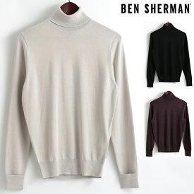 ベンシャーマン Ben Sherman セーター タートルネック ハイネック 3色 シルバーグレー ブラック ワイン メンズ 上着 アウター プレゼント ギフト