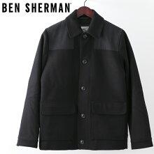 ベンシャーマンBenShermanドンキージャケットワックス18AW新作ブラックメンズプレゼントギフト