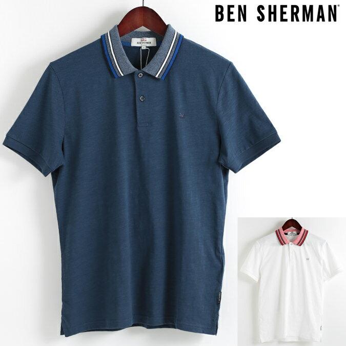 ベンシャーマン Ben Sherman ポロシャツ ポロ ティップライン スラブ 2色 18SS 新作 メンズ プレゼント ギフト モッズファッション