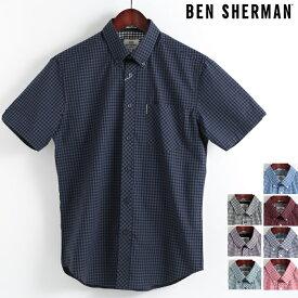 ベンシャーマン Ben Sherman 半袖シャツ ギンガムチェック コア 8色 レギュラーフィット MOD Regular Fit ボタンダウン メンズ プレゼント ギフト モッズファッション