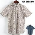 ベンシャーマンBenSherman半袖シャツペイズリーマイクロ2色18SS新作レギュラーフィットMODRegularFitボタンダウンメンズプレゼントギフトモッズファッション