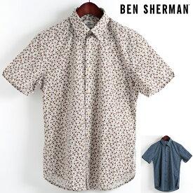 ベンシャーマン Ben Sherman 半袖シャツ ペイズリー マイクロ 2色 レギュラーフィット MOD Regular Fit ボタンダウン メンズ ギフト モッズファッション
