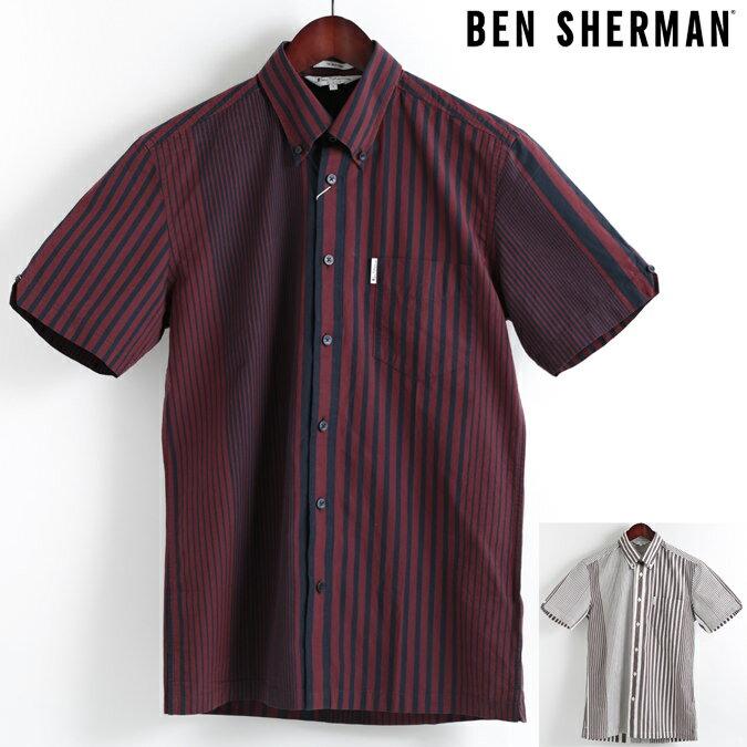 ベンシャーマン Ben Sherman 半袖シャツ アーカイブストライプ 2色 18SS 新作 ボタンダウン メンズ プレゼント ギフト モッズファッション 父の日