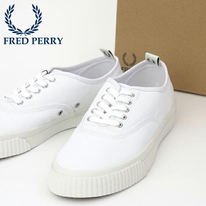 40%OFF SALE フレッドペリー Fred Perry スニーカー シューズ バーソン キャンバス ホワイト 白 靴 メンズ レディース プレゼント ギフト