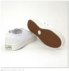 フレッドペリーFredPerryスニーカーシューズバーソンキャンバス16AWホワイト白靴メンズレディース