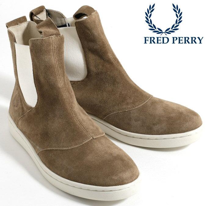 フレッドペリー Fred Perry シューズ スニーカー ハイカット ブーツ マスケル サイドゴア スウェード ベージュ メンズ レディース プレゼント ギフト
