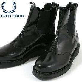 1f81345e89e27 SALE セール フレッドペリー Fred Perry シューズ スニーカー ハイカット ブーツ ナナヨン マスケル サイドゴア レザー ブラック  メンズ