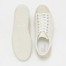 フレッドペリーFredPerryスニーカーシューズブローBreauxミリタリーキャンバスホワイト撥水加工日本製メンズレディース靴プレゼントギフト